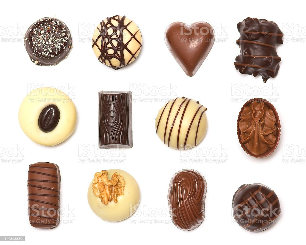 Mixed Chocolates royalty-free stock photo