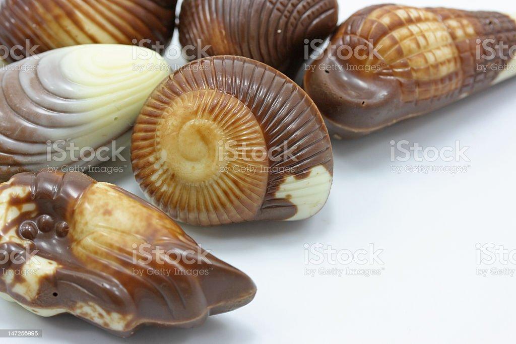 mixed chocolates royalty-free stock photo