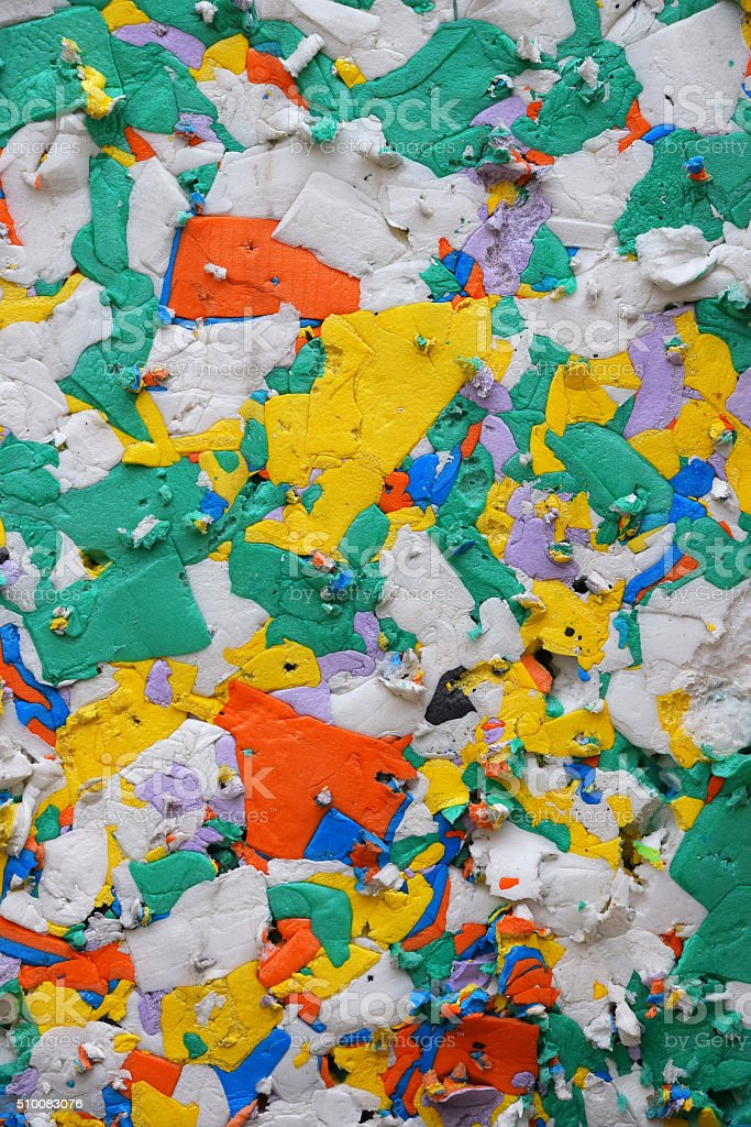 Mixed color pressed polystyrene panel royalty-free stock photo