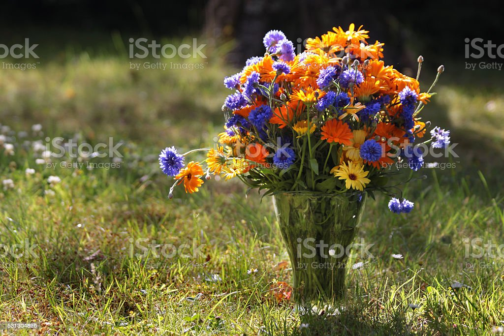 Mixed colorful bouquet stock photo
