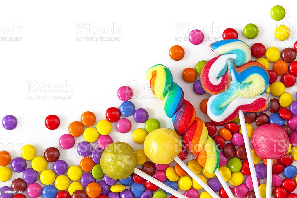 Mixed colorful sweets royalty-free stock photo