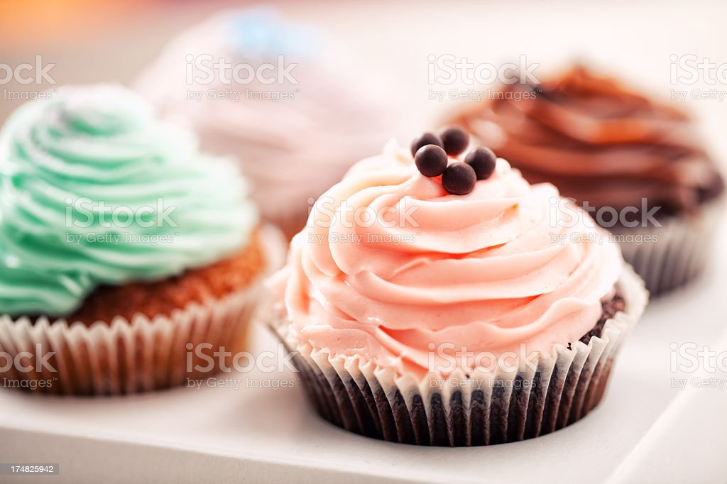Mixed Cupcake royalty-free stock photo