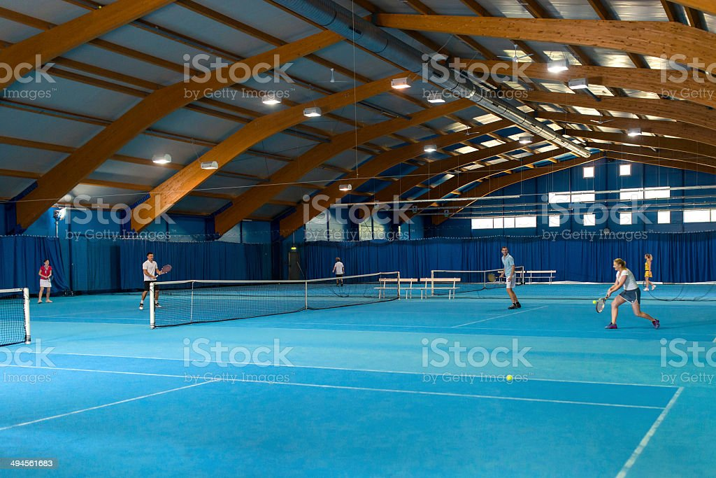 Mixed Doubles Match royalty-free stock photo
