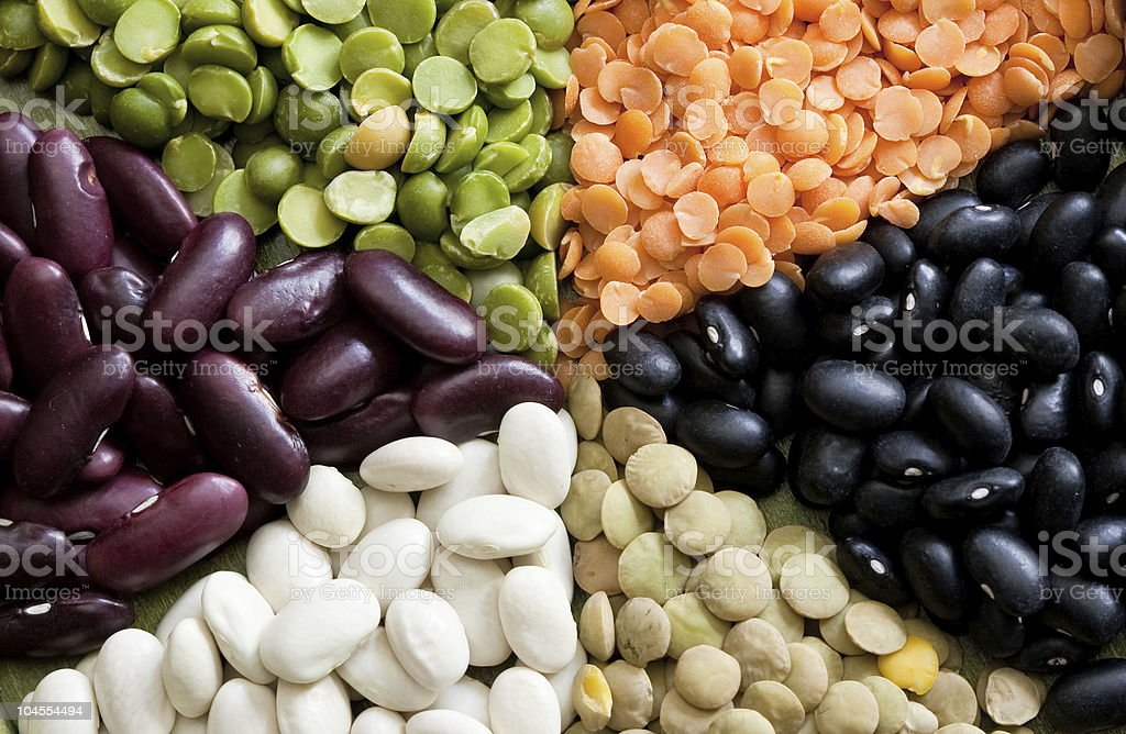 Mixed dried beans royalty-free stock photo