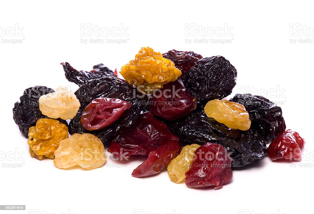 Mixed dried berries cutout royalty-free stock photo