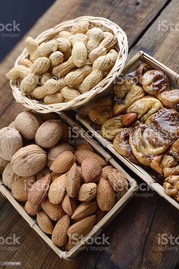 mixed dried fruit royalty-free stock photo