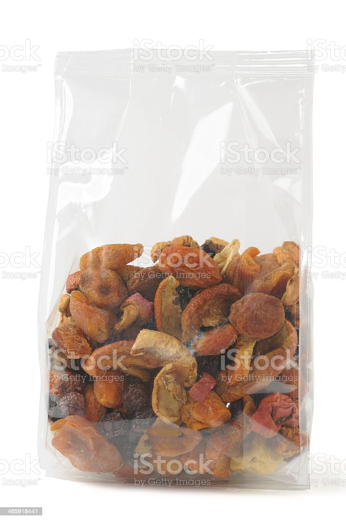 Mixed dried fruits stock photo