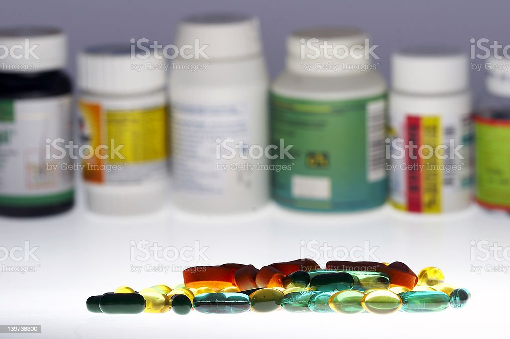 Mixed drugs royalty-free stock photo