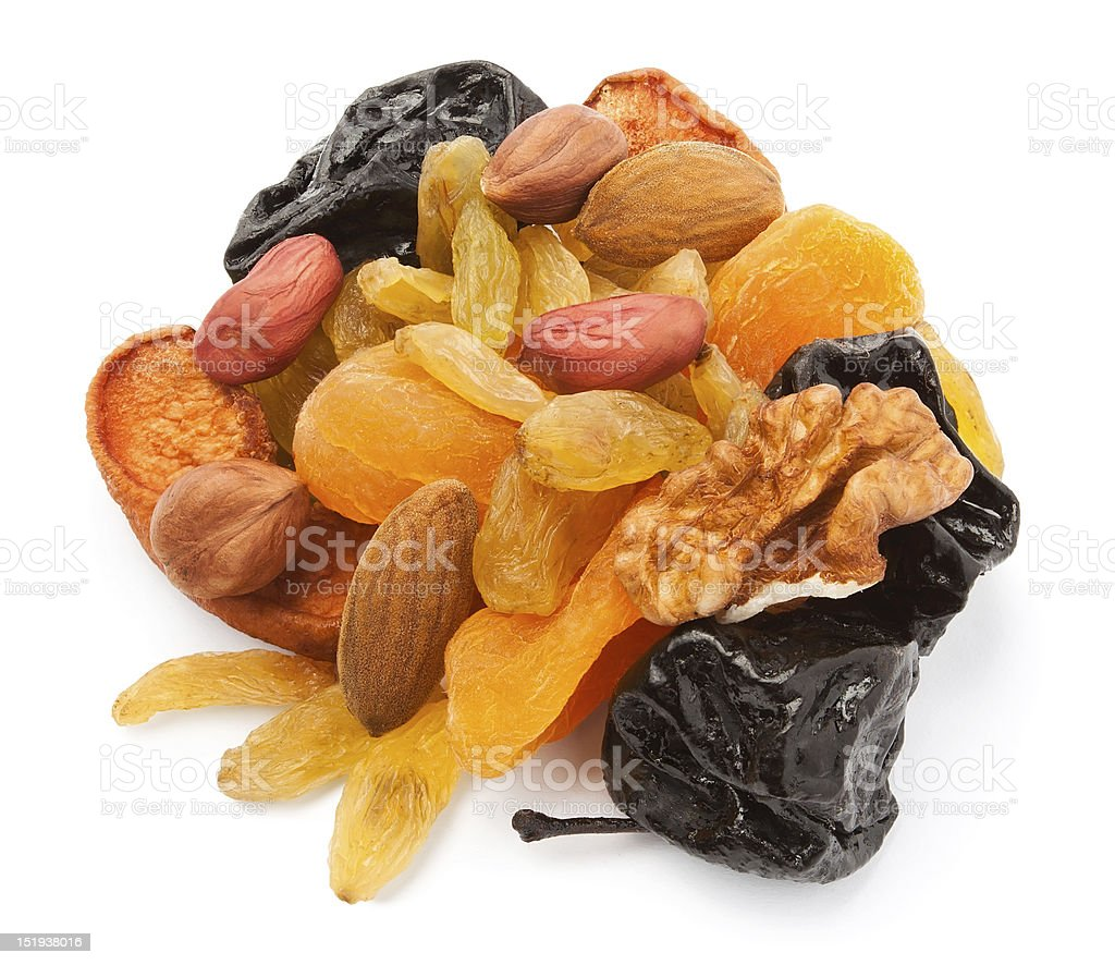 mixed dry fruits royalty-free stock photo