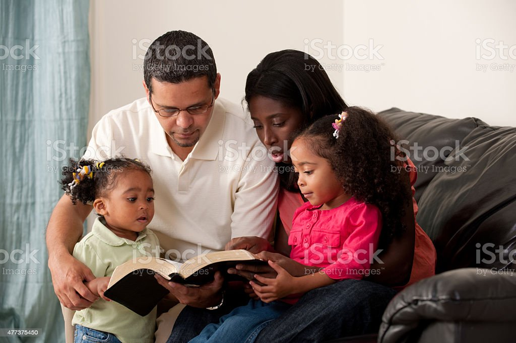 Mixed Family stock photo