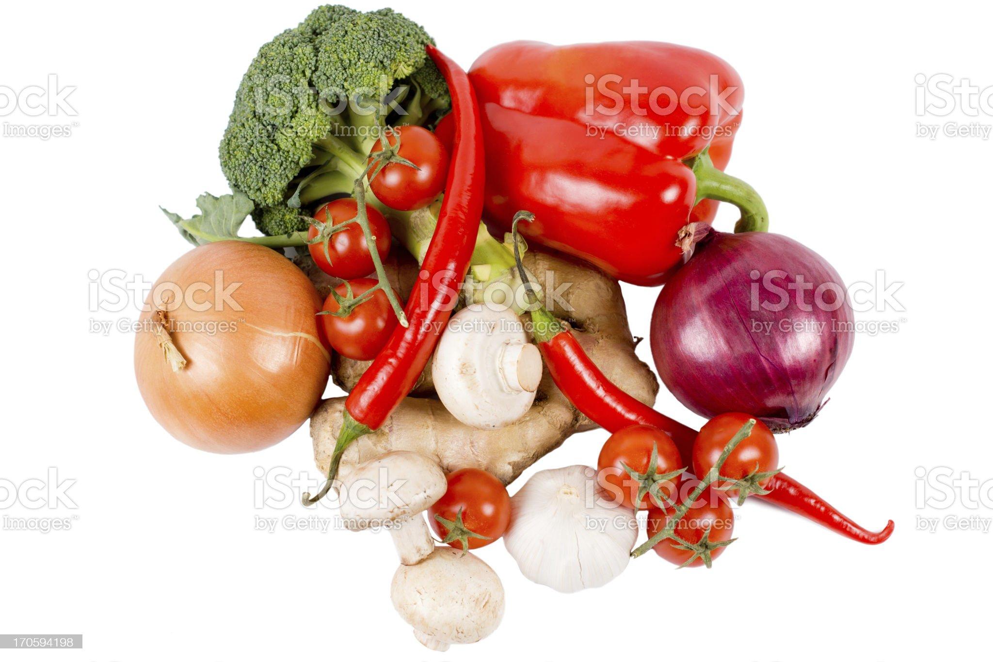Mixed fresh farm vegetables royalty-free stock photo