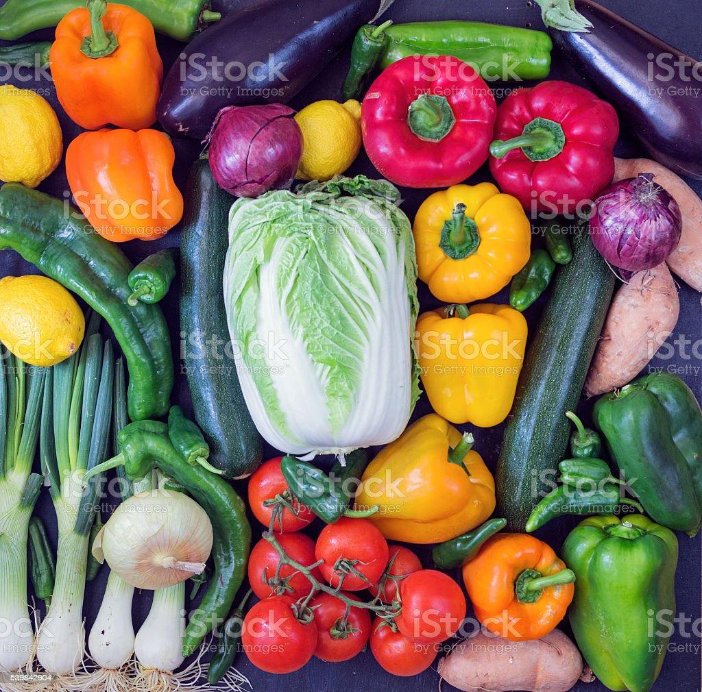 Mixed fresh vegetables stock photo