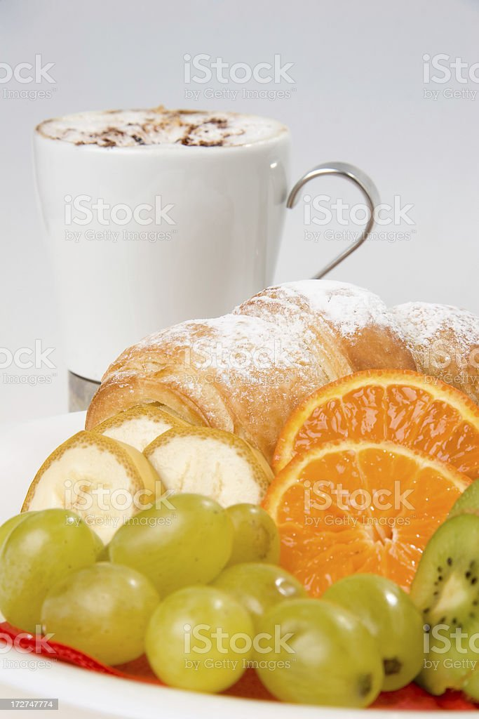 mixed friut and coffe stock photo