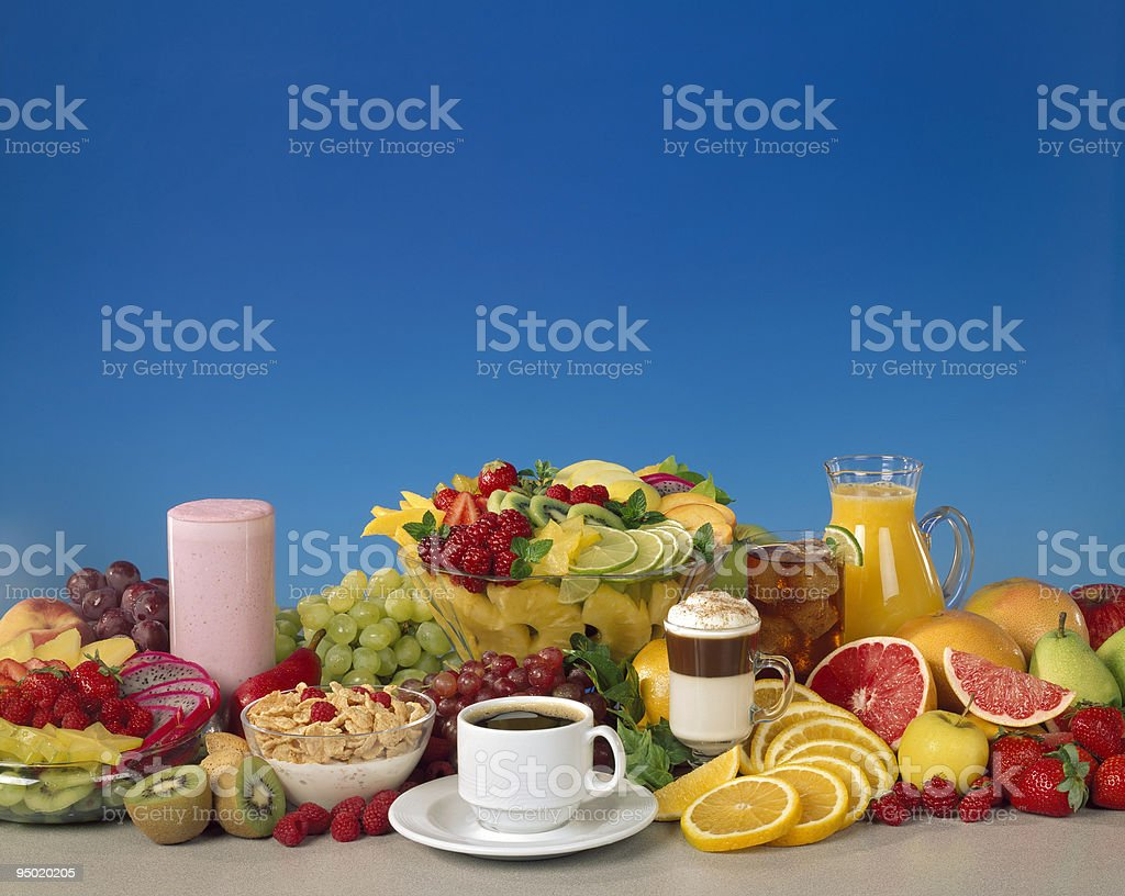 Mixed Fruit and Beverages royalty-free stock photo