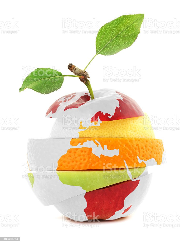 Mixed Fruit and Earth stock photo