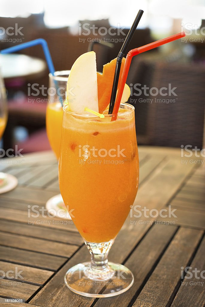 Mixed fruit juice royalty-free stock photo