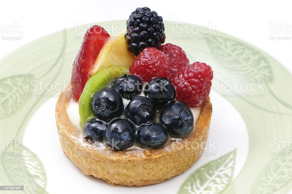 Mixed fruit tart royalty-free stock photo