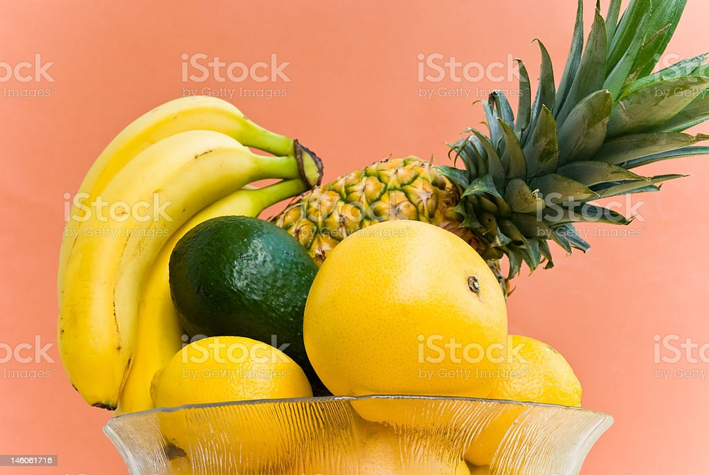 mixed fruits in the bowl royalty-free stock photo