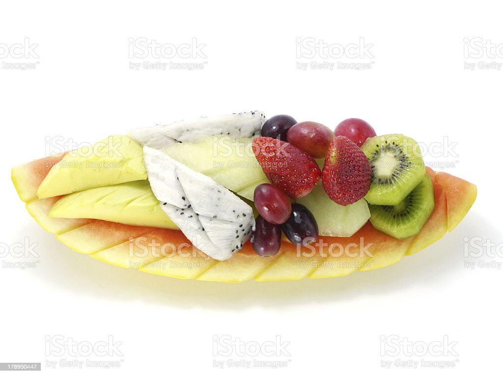 Mixed Fruits isolated on a white background. royalty-free stock photo