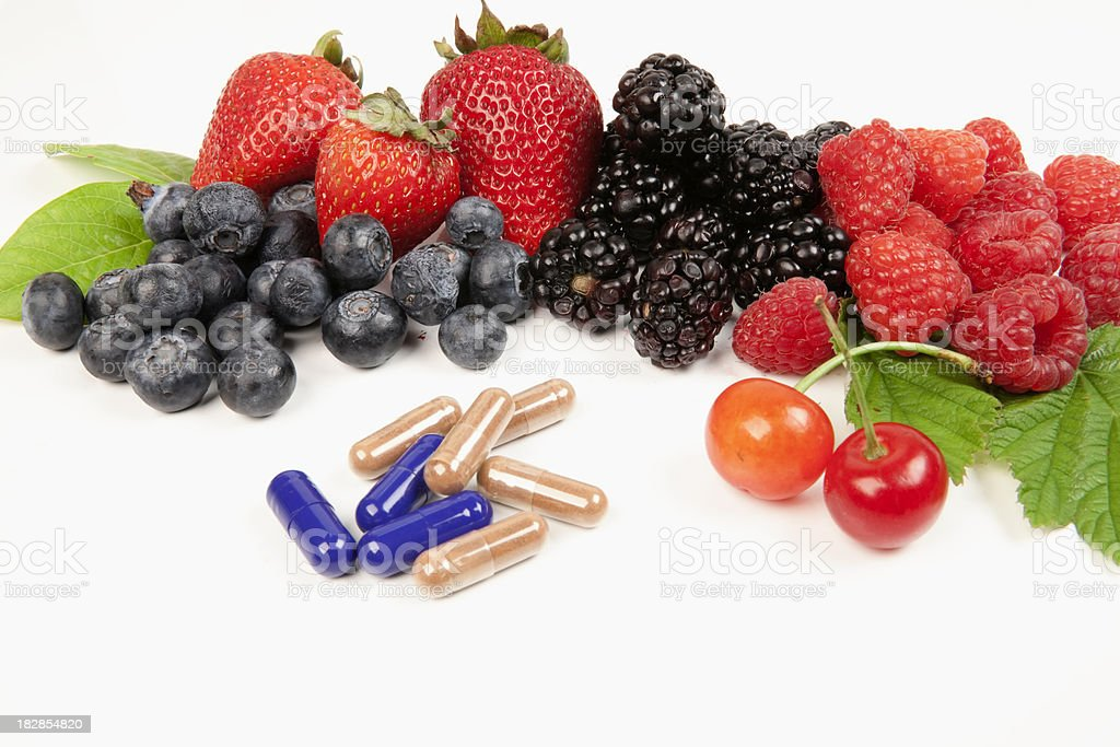 Mixed Fruits with Suppliments royalty-free stock photo