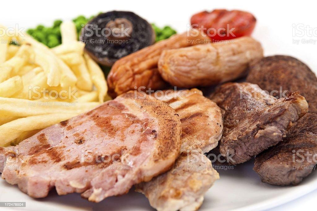 Mixed Grill royalty-free stock photo