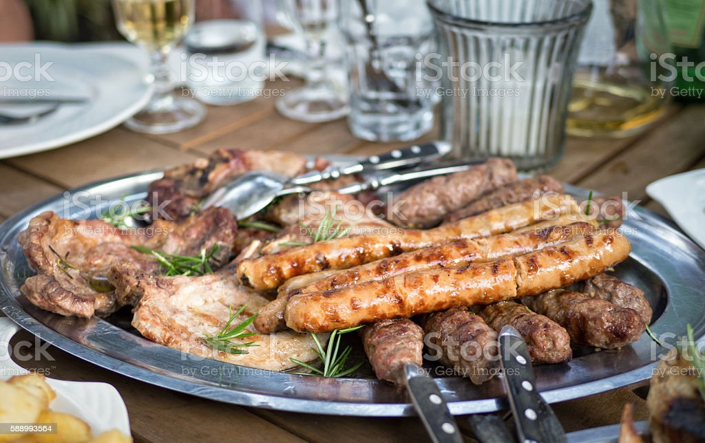 Mixed Grill Plate stock photo