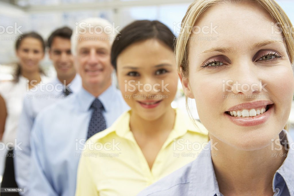 Mixed group business people royalty-free stock photo