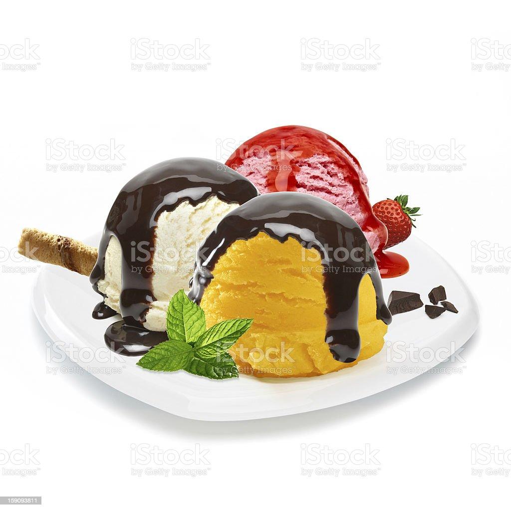 Mixed ice cream dish royalty-free stock photo