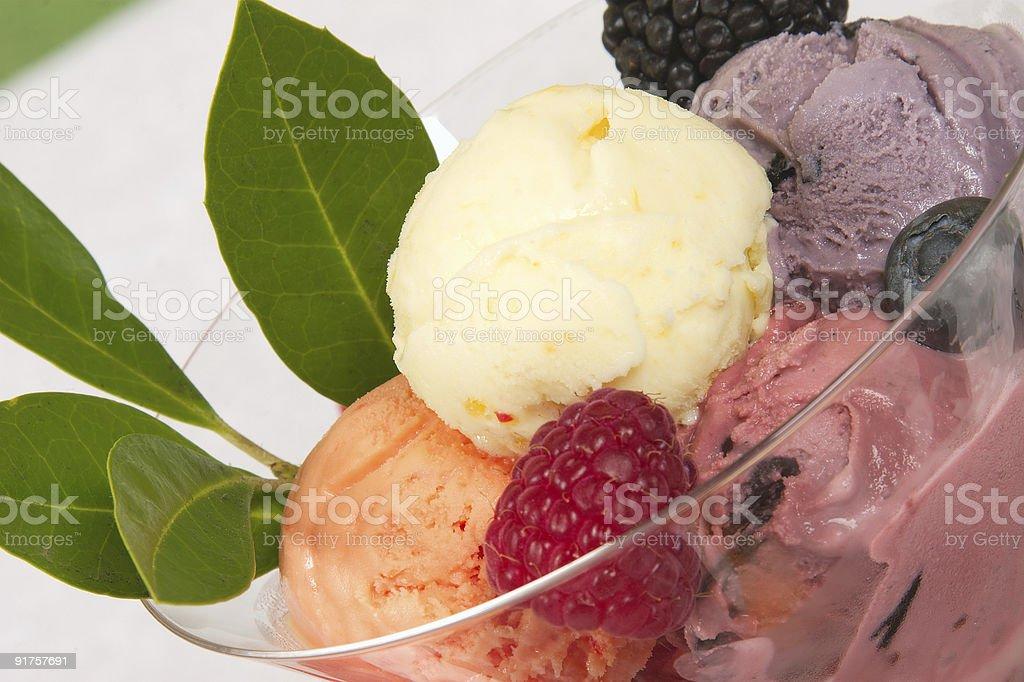 Mixed Ice Cream - macro stock photo