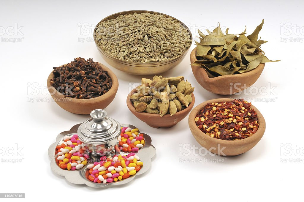 Mixed Indian spices royalty-free stock photo