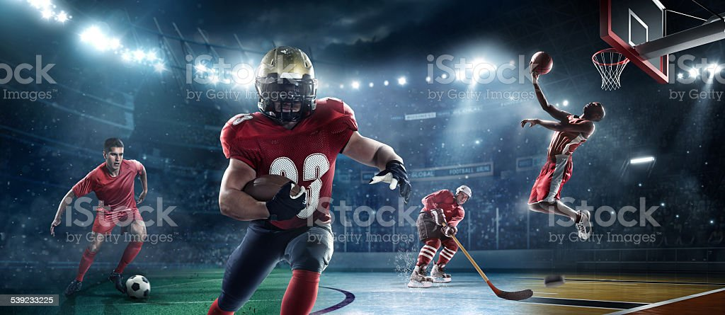 Mixed main sports stock photo