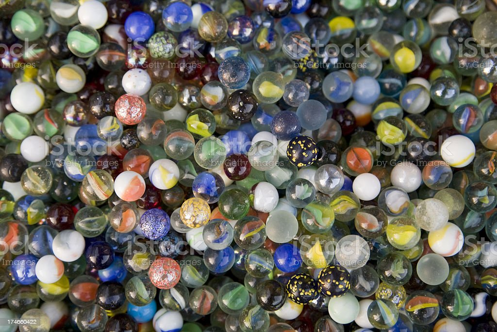 Mixed marbles royalty-free stock photo