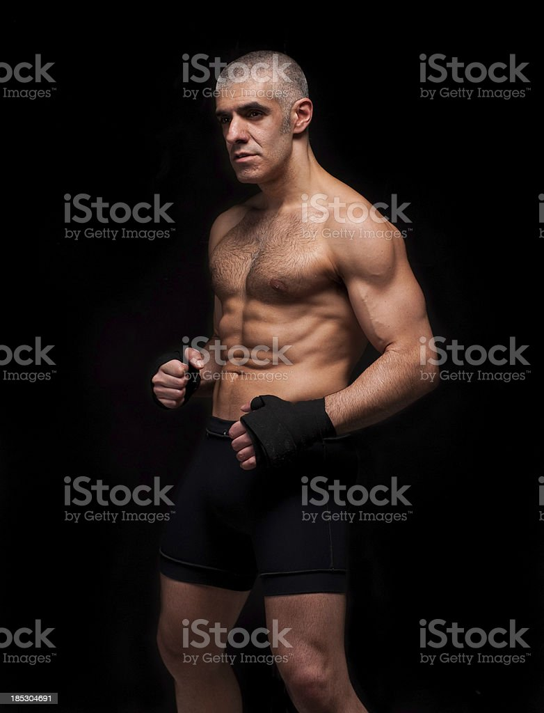 MMA - Mixed Martial Arts fighter royalty-free stock photo