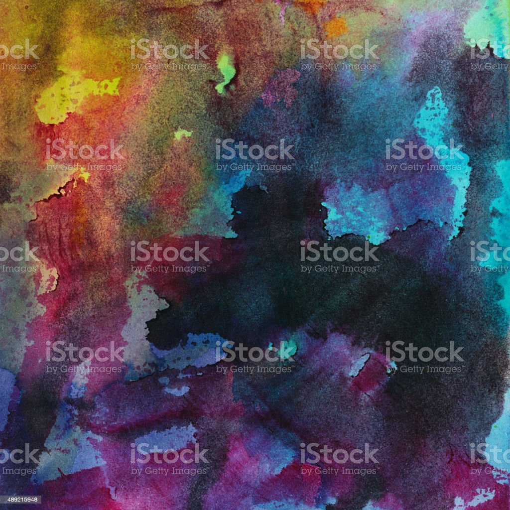 Colorful mixed media textured background vector art illustration