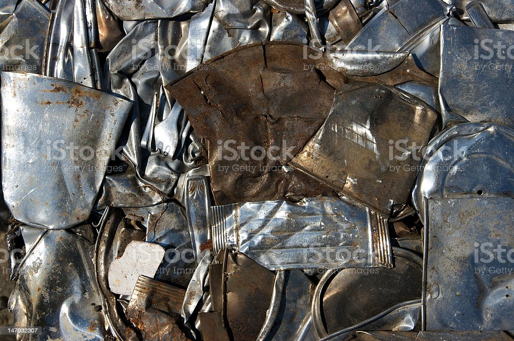 Mixed metal recycling stock photo