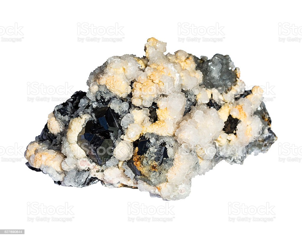 Mixed mineral stock photo