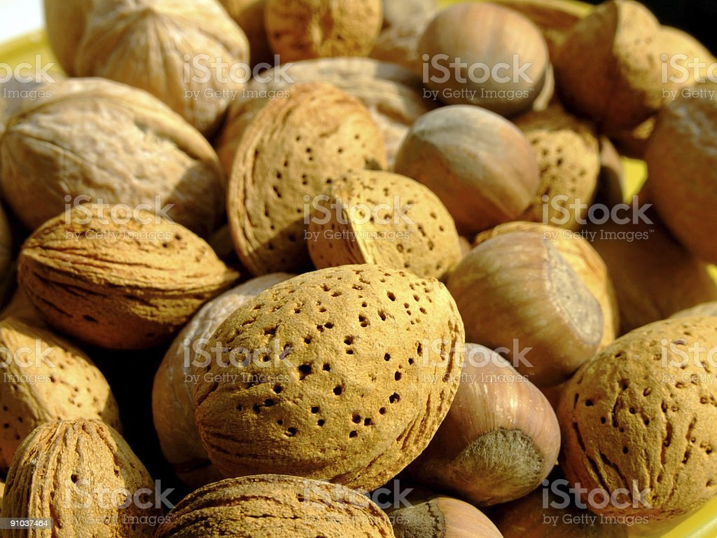 Mixed nuts background royalty-free stock photo