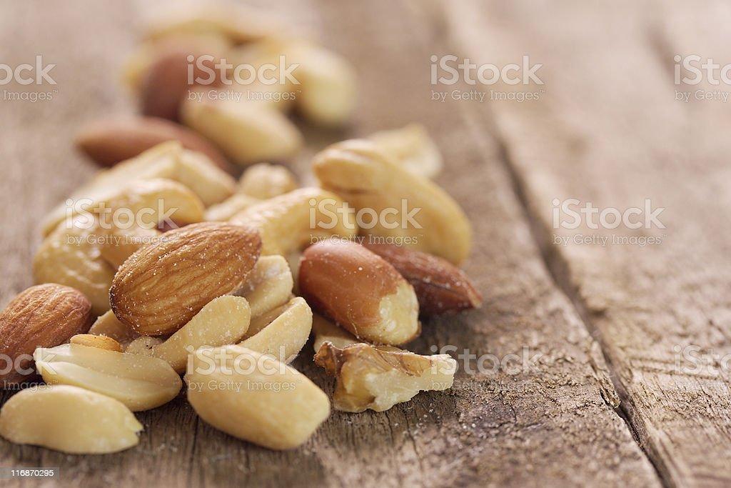 Mixed nuts. royalty-free stock photo