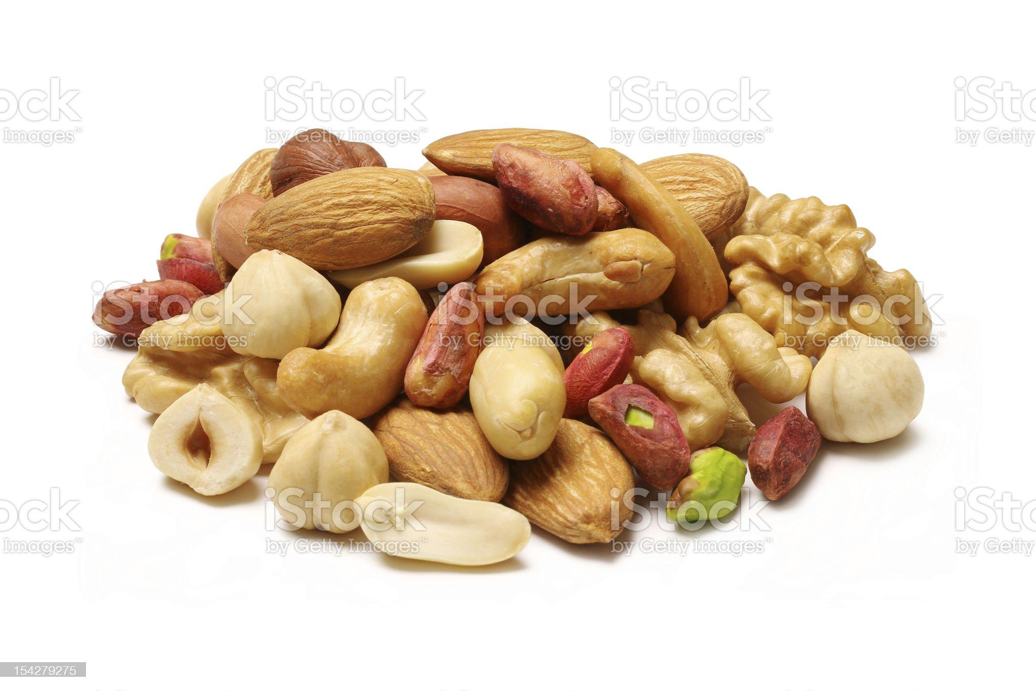 Mixed nuts royalty-free stock photo