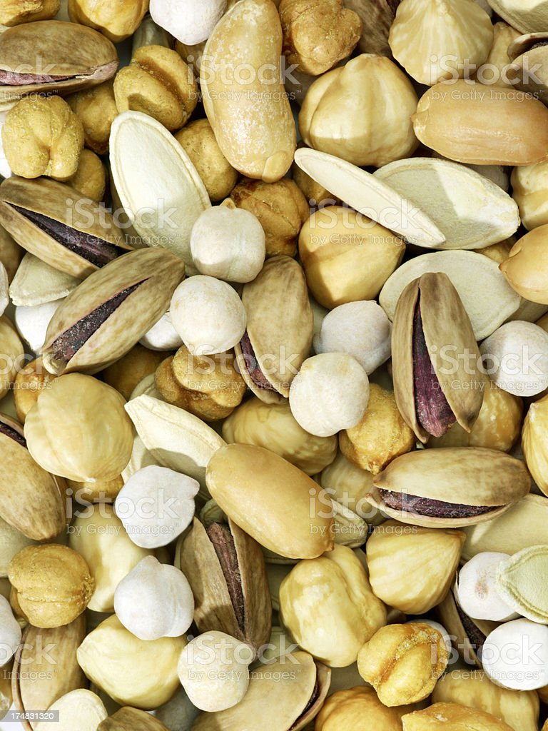 Mixed Nuts (Click for more) royalty-free stock photo