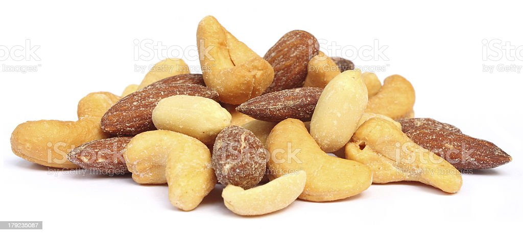 Mixed nuts stock photo