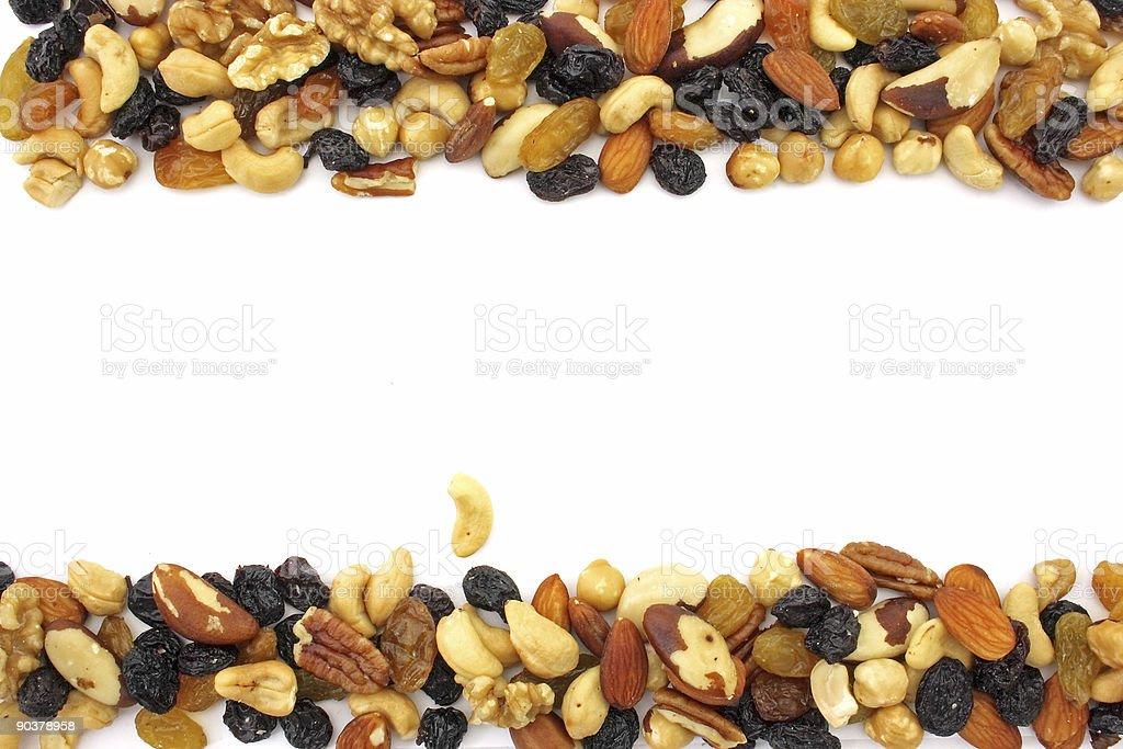 Mixed nuts with copyspace royalty-free stock photo