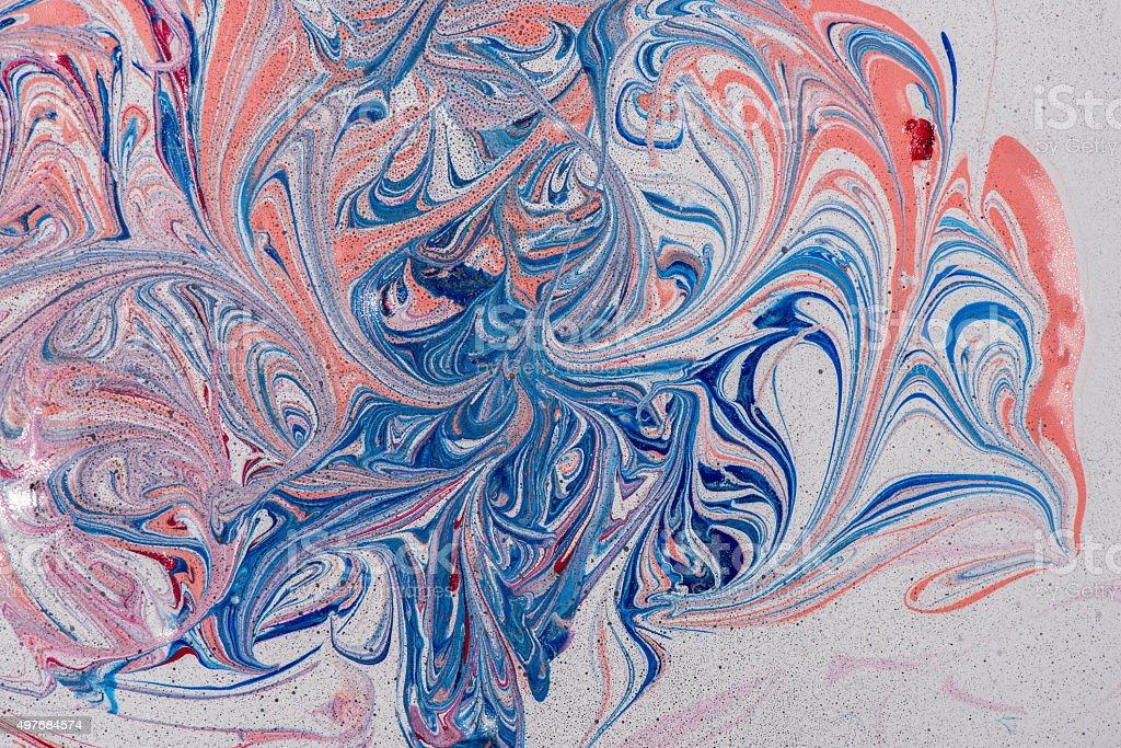 Mixed paint. stock photo