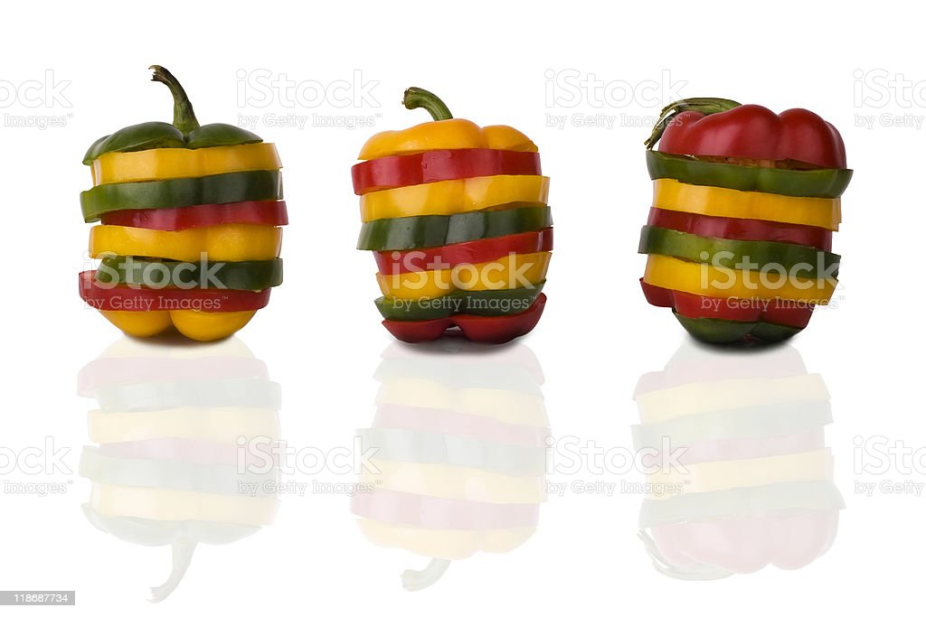 Mixed peppers royalty-free stock photo