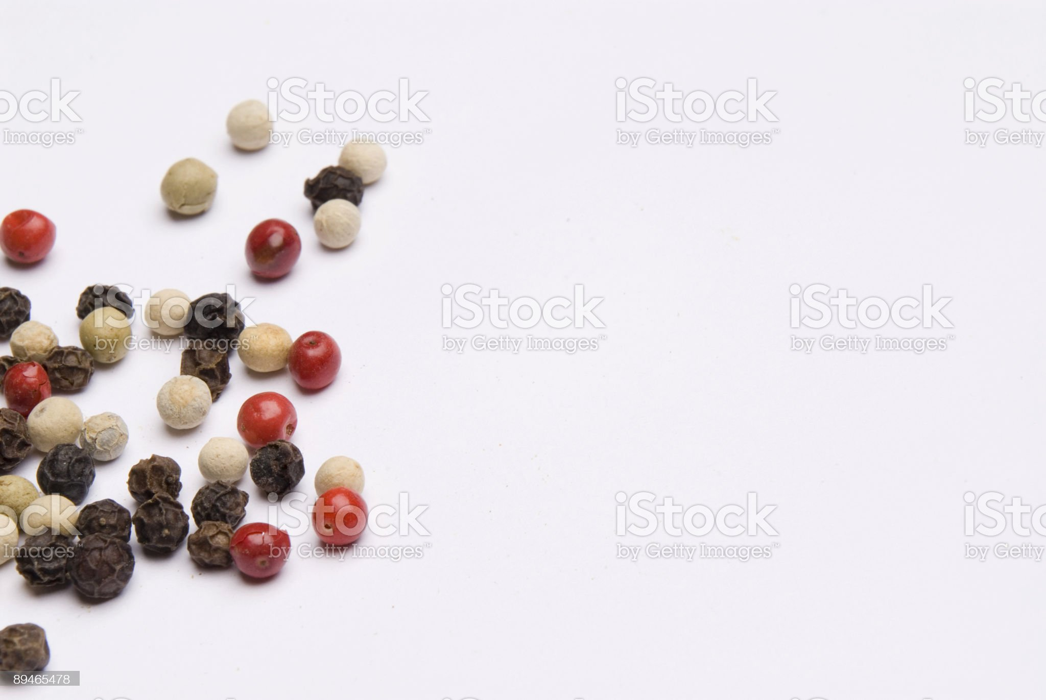 Mixed Peppers white black and pink peppercorns royalty-free stock photo