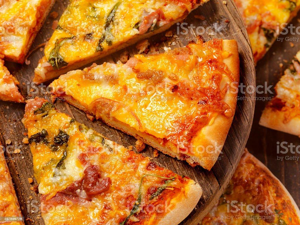 Mixed Pizza Slices stock photo