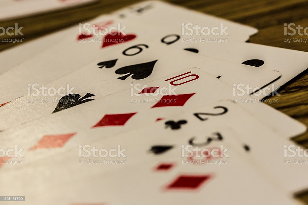 Mixed Playing Cards stock photo