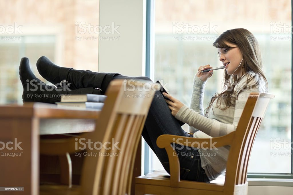 Mixed race college student royalty-free stock photo
