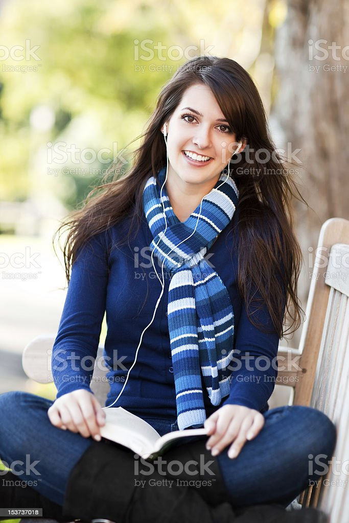 Mixed race college student studying royalty-free stock photo
