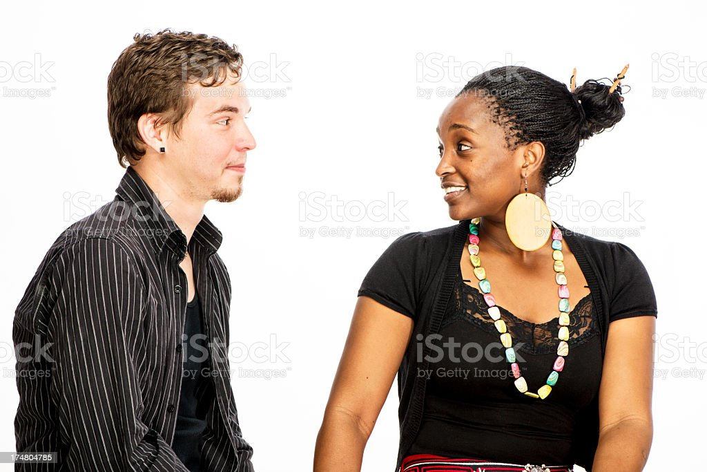 Mixed Race Couple royalty-free stock photo